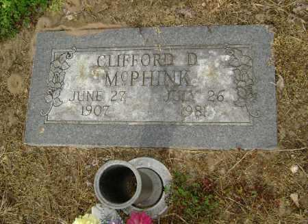 MCPHINK, CLIFFORD D. - Lawrence County, Arkansas | CLIFFORD D. MCPHINK - Arkansas Gravestone Photos
