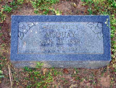 MCQUAY, ALICE - Lawrence County, Arkansas | ALICE MCQUAY - Arkansas Gravestone Photos