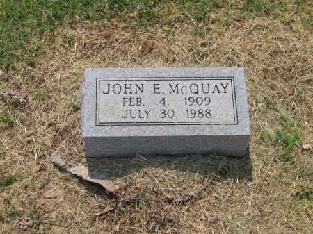 MCQUAY, JOHN E. - Lawrence County, Arkansas | JOHN E. MCQUAY - Arkansas Gravestone Photos