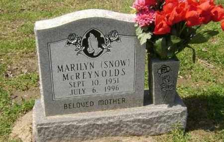 SNOW MCREYNOLDS, MARILYN - Lawrence County, Arkansas | MARILYN SNOW MCREYNOLDS - Arkansas Gravestone Photos