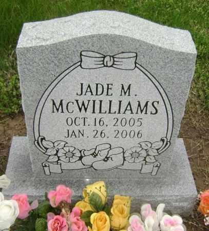 MCWILLIAMS, JADE M. - Lawrence County, Arkansas   JADE M. MCWILLIAMS - Arkansas Gravestone Photos