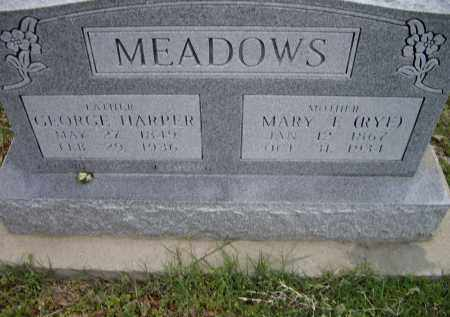 RYE MEADOWS, MARY FRANCES - Lawrence County, Arkansas | MARY FRANCES RYE MEADOWS - Arkansas Gravestone Photos