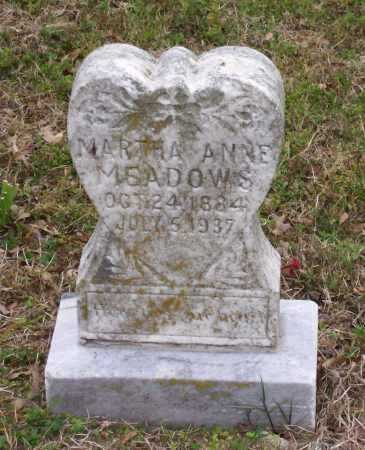 WHITTAKER MEADOWS, MARTHA ANNE - Lawrence County, Arkansas | MARTHA ANNE WHITTAKER MEADOWS - Arkansas Gravestone Photos