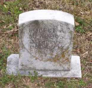 MEADOWS, ROBERT A. - Lawrence County, Arkansas | ROBERT A. MEADOWS - Arkansas Gravestone Photos