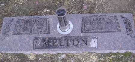 MELTON, CLINTON GEORGE - Lawrence County, Arkansas | CLINTON GEORGE MELTON - Arkansas Gravestone Photos