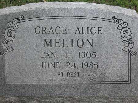MELTON, GRACE ALICE - Lawrence County, Arkansas | GRACE ALICE MELTON - Arkansas Gravestone Photos