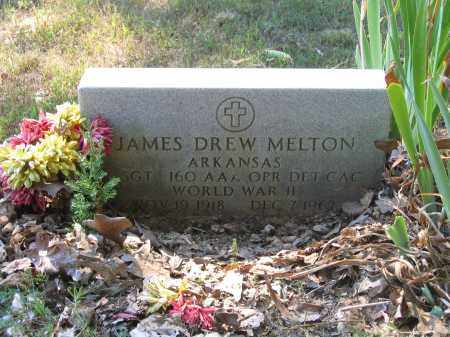 MELTON (VETERAN WWII), JAMES DREW - Lawrence County, Arkansas | JAMES DREW MELTON (VETERAN WWII) - Arkansas Gravestone Photos