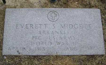 MIDGETT  (VETERAN WWII), EVERETT S. - Lawrence County, Arkansas | EVERETT S. MIDGETT  (VETERAN WWII) - Arkansas Gravestone Photos