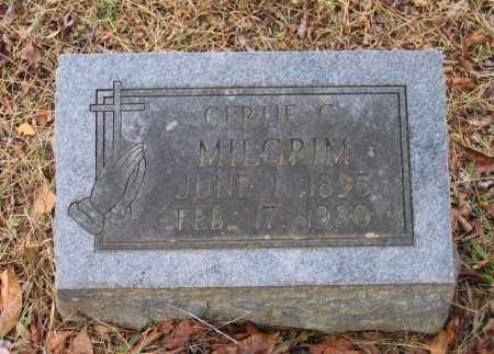 YOUNG MILGRIM, GERTIE GRACE - Lawrence County, Arkansas | GERTIE GRACE YOUNG MILGRIM - Arkansas Gravestone Photos