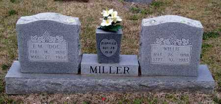 MILLER, WILLIE - Lawrence County, Arkansas | WILLIE MILLER - Arkansas Gravestone Photos