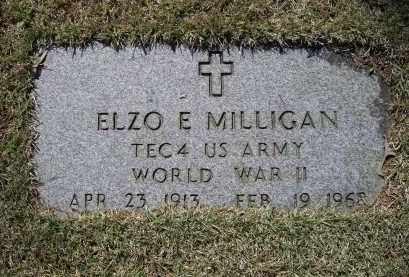 MILLIGAN (VETERAN WWII), ELZO EVERETT - Lawrence County, Arkansas | ELZO EVERETT MILLIGAN (VETERAN WWII) - Arkansas Gravestone Photos