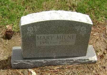 MILNE, MARY - Lawrence County, Arkansas | MARY MILNE - Arkansas Gravestone Photos