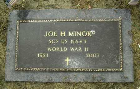 MINOR  (VETERAN WWII), JOE H. - Lawrence County, Arkansas | JOE H. MINOR  (VETERAN WWII) - Arkansas Gravestone Photos