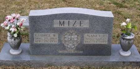MIZE, NANCY E. - Lawrence County, Arkansas | NANCY E. MIZE - Arkansas Gravestone Photos