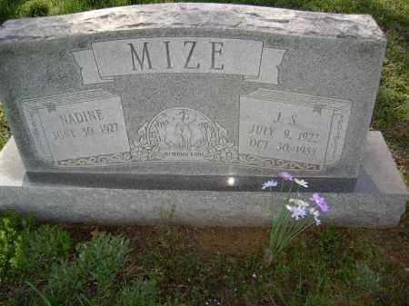 MIZE, J. S. - Lawrence County, Arkansas | J. S. MIZE - Arkansas Gravestone Photos