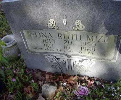 MIZE, NONA RUTH - Lawrence County, Arkansas | NONA RUTH MIZE - Arkansas Gravestone Photos