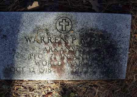 MIZE (VETERAN WWII), WARREN P. - Lawrence County, Arkansas | WARREN P. MIZE (VETERAN WWII) - Arkansas Gravestone Photos
