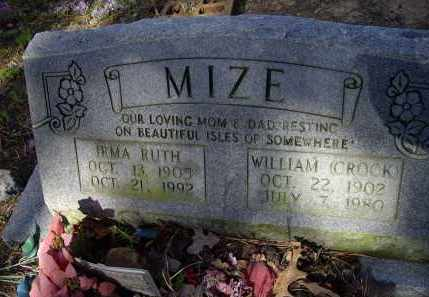 MIZE, IRMA RUTH - Lawrence County, Arkansas | IRMA RUTH MIZE - Arkansas Gravestone Photos