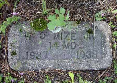 MIZE, JR., WILLIAM CROCKETT - Lawrence County, Arkansas | WILLIAM CROCKETT MIZE, JR. - Arkansas Gravestone Photos
