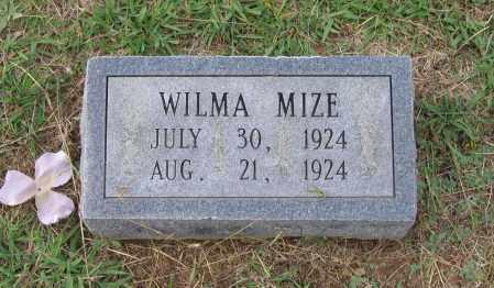 MIZE, WILMA - Lawrence County, Arkansas | WILMA MIZE - Arkansas Gravestone Photos