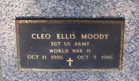 MOODY (VETERAN WWII), CLEO ELLIS - Lawrence County, Arkansas | CLEO ELLIS MOODY (VETERAN WWII) - Arkansas Gravestone Photos