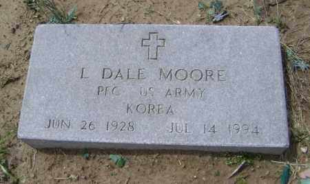 MOORE  (VETERAN KOR), L. DALE - Lawrence County, Arkansas | L. DALE MOORE  (VETERAN KOR) - Arkansas Gravestone Photos