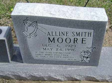 SMITH MOORE, ALLINE - Lawrence County, Arkansas | ALLINE SMITH MOORE - Arkansas Gravestone Photos