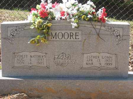 MOORE, EVERETT MATTHEWS - Lawrence County, Arkansas | EVERETT MATTHEWS MOORE - Arkansas Gravestone Photos