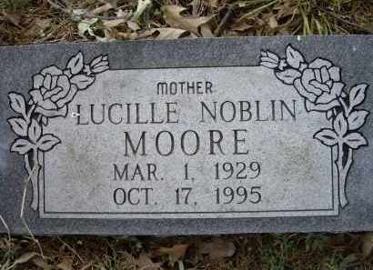 NOBLIN MOORE, LUCILLE - Lawrence County, Arkansas | LUCILLE NOBLIN MOORE - Arkansas Gravestone Photos