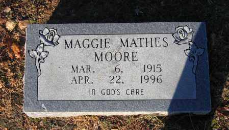 MATHES MOORE, MAGGIE - Lawrence County, Arkansas | MAGGIE MATHES MOORE - Arkansas Gravestone Photos