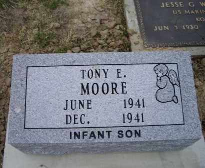 MOORE, TONY E. - Lawrence County, Arkansas | TONY E. MOORE - Arkansas Gravestone Photos