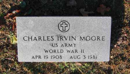 MOORE (VETERAN WWII), CHARLES IRVIN - Lawrence County, Arkansas | CHARLES IRVIN MOORE (VETERAN WWII) - Arkansas Gravestone Photos