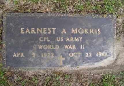 MORRIS (VETERAN WWII), EARNEST A. - Lawrence County, Arkansas | EARNEST A. MORRIS (VETERAN WWII) - Arkansas Gravestone Photos