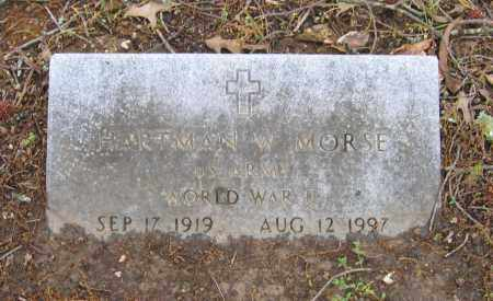 MORSE (VETERAN WWII), HARTMAN WILLIS - Lawrence County, Arkansas | HARTMAN WILLIS MORSE (VETERAN WWII) - Arkansas Gravestone Photos