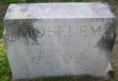 MOSELEY, MINNIE - Lawrence County, Arkansas | MINNIE MOSELEY - Arkansas Gravestone Photos