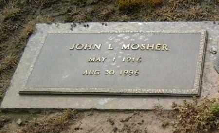 MOSHER, SR., JOHN L. - Lawrence County, Arkansas | JOHN L. MOSHER, SR. - Arkansas Gravestone Photos
