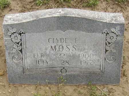 MOSS, CLYDE E. - Lawrence County, Arkansas | CLYDE E. MOSS - Arkansas Gravestone Photos