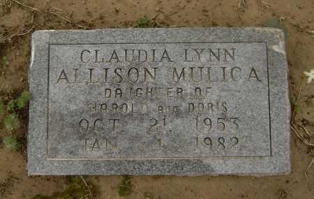 ALLISON MULICA, CLAUDIA LYNN - Lawrence County, Arkansas | CLAUDIA LYNN ALLISON MULICA - Arkansas Gravestone Photos