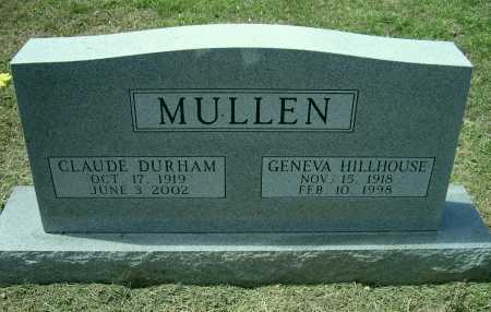 MULLEN, CLAUDE DURHAM - Lawrence County, Arkansas | CLAUDE DURHAM MULLEN - Arkansas Gravestone Photos