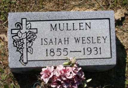MULLEN, ISAIAH WESLEY - Lawrence County, Arkansas | ISAIAH WESLEY MULLEN - Arkansas Gravestone Photos