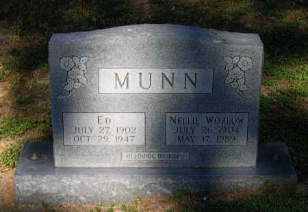 WORLOW MUNN, NELLIE - Lawrence County, Arkansas | NELLIE WORLOW MUNN - Arkansas Gravestone Photos