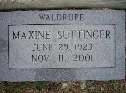 SUTTINGER, MAXINE MURPHY WALDRUPE - Lawrence County, Arkansas | MAXINE MURPHY WALDRUPE SUTTINGER - Arkansas Gravestone Photos