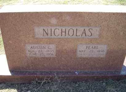 NICHOLAS, AUSTIN CLEM - Lawrence County, Arkansas | AUSTIN CLEM NICHOLAS - Arkansas Gravestone Photos