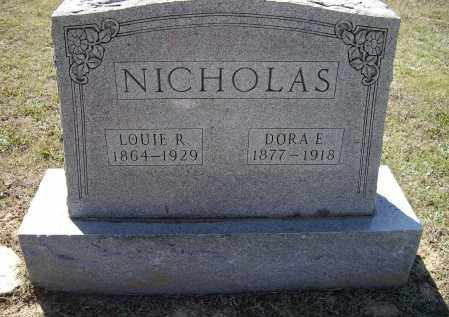 NICHOLAS, DORA ELIZABETH - Lawrence County, Arkansas | DORA ELIZABETH NICHOLAS - Arkansas Gravestone Photos