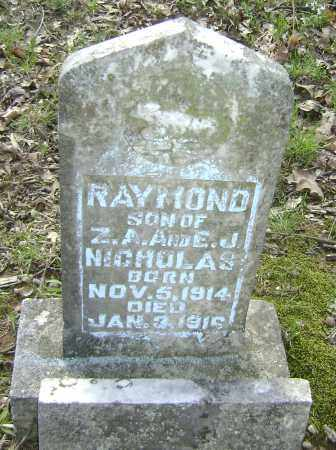 NICHOLAS, RAYMOND - Lawrence County, Arkansas | RAYMOND NICHOLAS - Arkansas Gravestone Photos