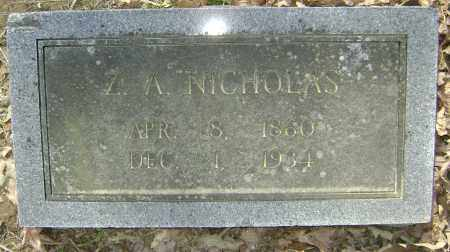 "NICHOLAS, ZEPHENY A. ""Z. A."" - Lawrence County, Arkansas | ZEPHENY A. ""Z. A."" NICHOLAS - Arkansas Gravestone Photos"
