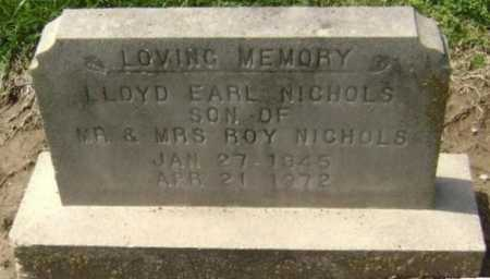 NICHOLS, LLOYD EARL - Lawrence County, Arkansas | LLOYD EARL NICHOLS - Arkansas Gravestone Photos