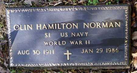 NORMAN (VETERAN WWII), OLIN HAMILTON - Lawrence County, Arkansas | OLIN HAMILTON NORMAN (VETERAN WWII) - Arkansas Gravestone Photos