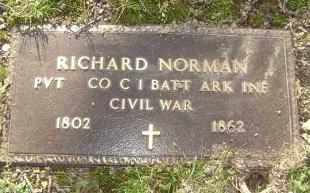 NORMAN (VETERAN UNION), RICHARD - Lawrence County, Arkansas | RICHARD NORMAN (VETERAN UNION) - Arkansas Gravestone Photos