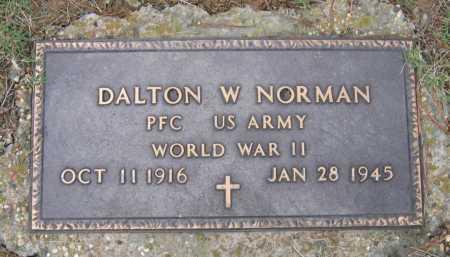 NORMAN (VETERAN WWII), DALTON WILLIAM - Lawrence County, Arkansas | DALTON WILLIAM NORMAN (VETERAN WWII) - Arkansas Gravestone Photos
